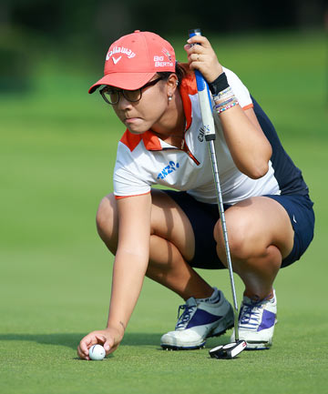 NOT THIS YEAR: Lydia Ko failed to take advantage of good scoring conditions at the London Hunt and Country Club in Ontario as her bid to win three straight Canadian Opens faded in the third round.
