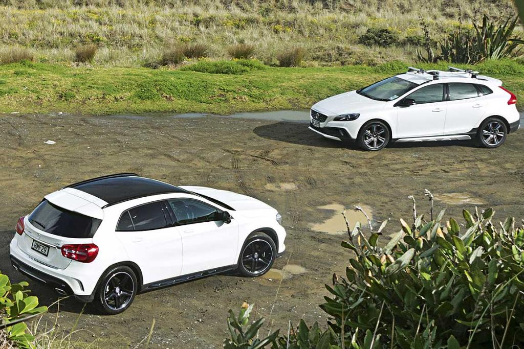 Hoisted hatches: Mercedes-Benz GLA v Volvo V40 | Stuff co nz