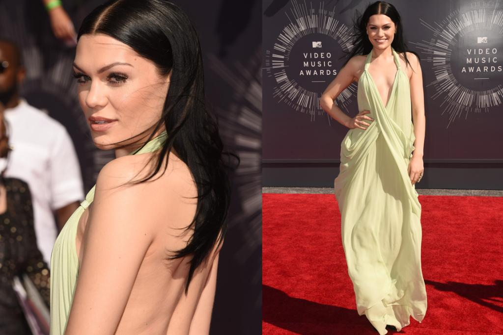 THE GOOD: While it looks a bit sacky on a windy red carpet, we actually adore this vintage Halston dress on Jessie J. The colour's beautiful and we imagine it would look stunning in real life. (Although perhaps the multiple hip folds are a touch too much).