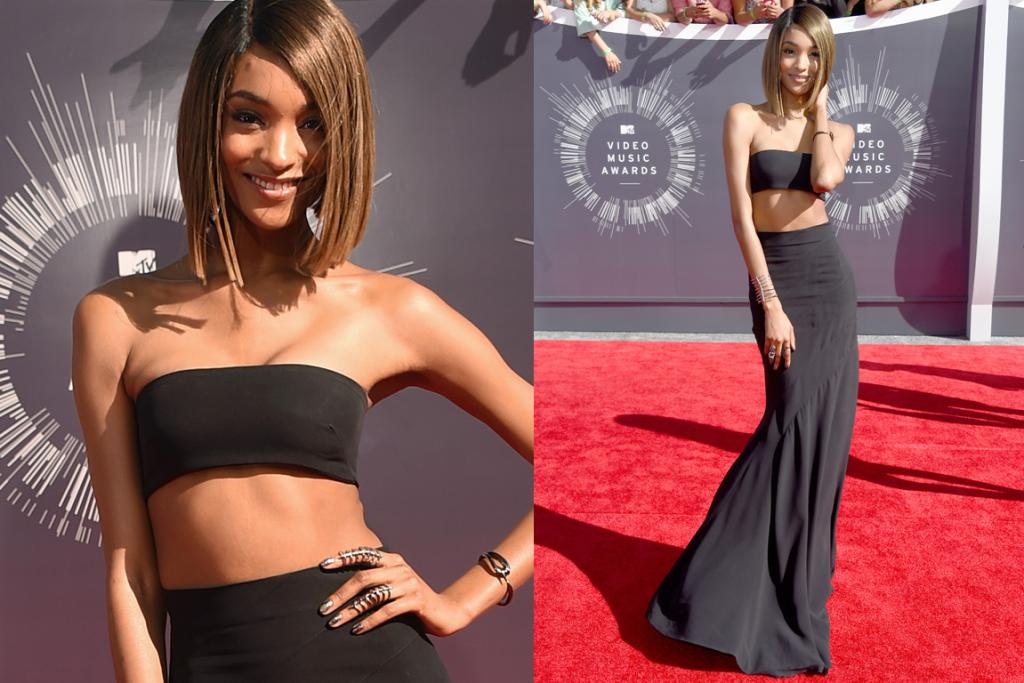THE GOOD: Proving her worth as one of the most successful clothes horses in the world, Jourdan Dunn achieves the near impossible and actually manages to make a miniscule bandeau top work as a legitimate clothing item. Paired with a beautiful Balmain maxi skirt (the bias cut on that thing is heavenly) and statement jewellery the look is pure model-off-duty chic.