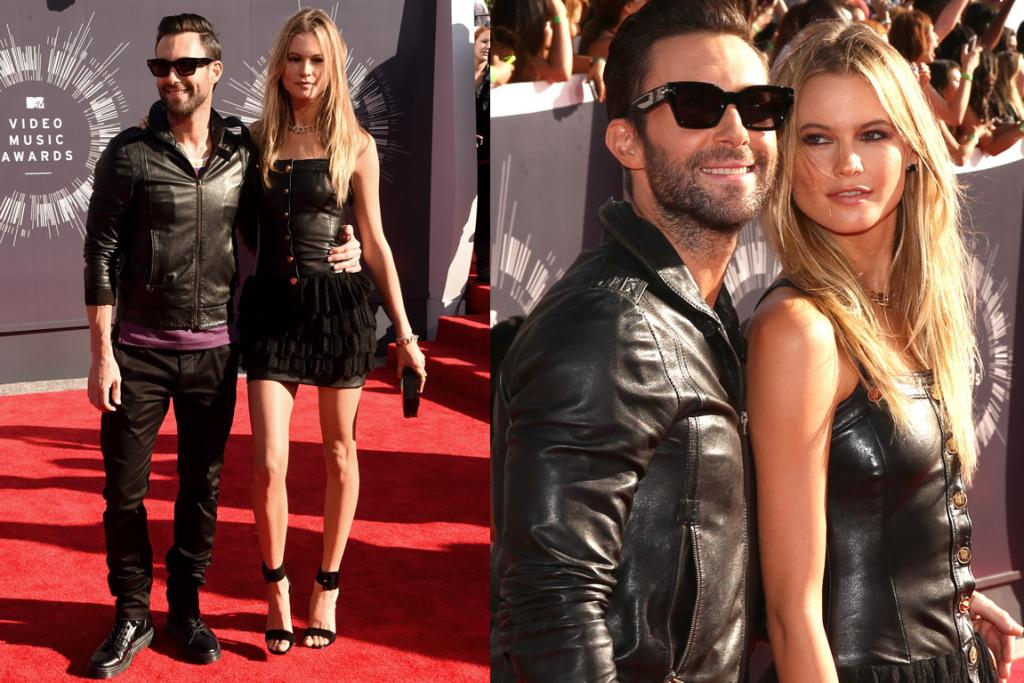 THE CASUAL: Although not outstandingly bad, Adam Levine and his gorgeous wife Victoria's Secret model look dressed to hit the town on any given Saturday night, rather than red carpet ready. Both Adam's jacket and Behati's dress are bound to be real leather, but somehow manage to look cheap as chips. It's all just very so-so, thoughts?