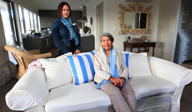 ONE LESS WORRY: Springlands Lifestyle Village manager Naomi Nailer says residents like Marie Fettes, 85, are pleased to hear most of their weekly payments will be fixed from October.