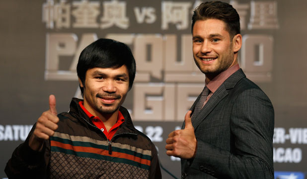 Manny Pacquiao and Chris Algieri