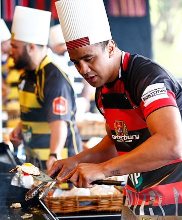 COOKING-UP SOMETHING SPECIAL: Nasi Manu, pictured at the NPC launch earlier this month, takes the captaincy off Willi Heinz for tomorrow night's match against Northland.