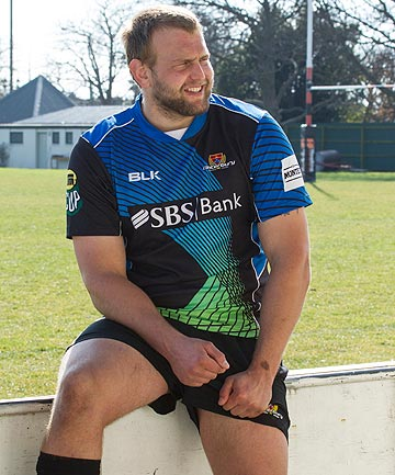 HAPPY MAN: Joe Moody has returned from the All Blacks camp to start at prop for Canterbury against Northland tonight.