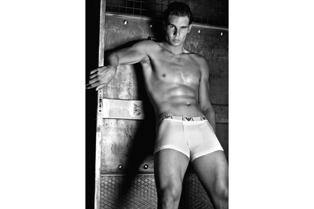 RAFAEL NADAL: When news of Rafael Nadal's underwear campaign first came to light many fans were said to be 'in shock' - apparently it was the last thing they expected due to his somewhat shy and reserved attitude. But if this image is anything to go by, Nadal isn't just an ace on the tennis court. Check out that piercing gaze - the guy certainly looks pretty comfortable in his undies.