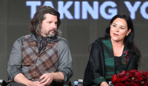 THE KILT'S THE THING: Outlander author Diana Gabaldon talks to fans with TV show creator Ronald D Moore.