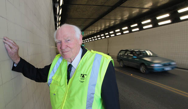 TUNNEL VISION: Jack Smith, the project manager during the Lyttelton Tunnel construction, recalls the now 50-year-old facility was built on time and under budget.