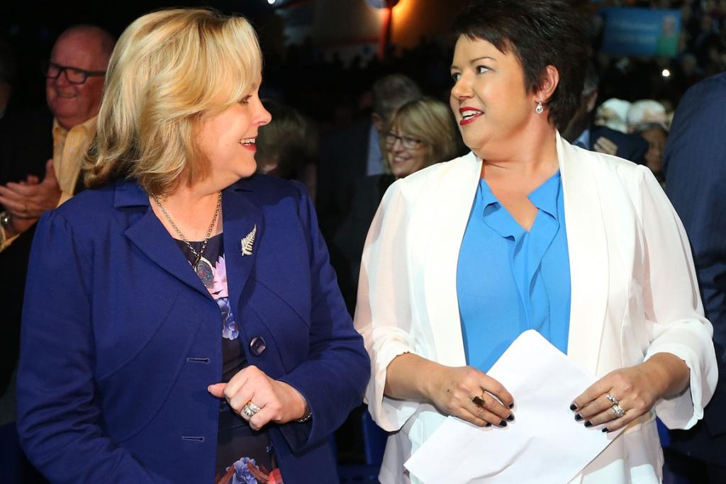 LAUNCH: Judith Collins with Minister of Welfare Paula Bennett at the National Party's campaign launch in Auckland this week.