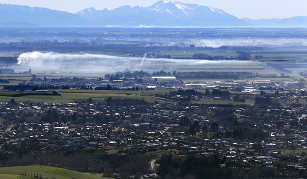 timaru smoke rural burn-off