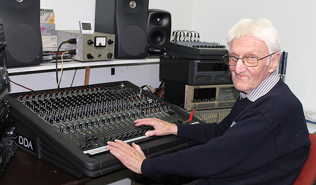 The right notes: Frank Douglas has been part of New Zealand music history, and has also helped Taranaki musicians record their own music at his home studio in Waitara.