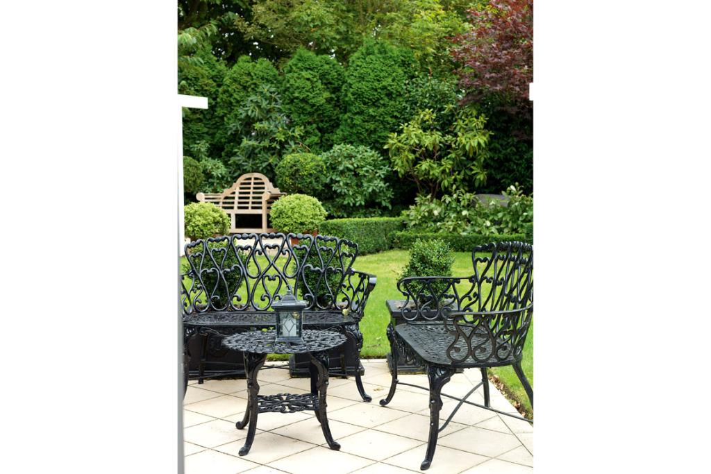 LUSH GREENERY: The outdoor space offers up plenty of places to relax and a stunning backdrop to enjoy.