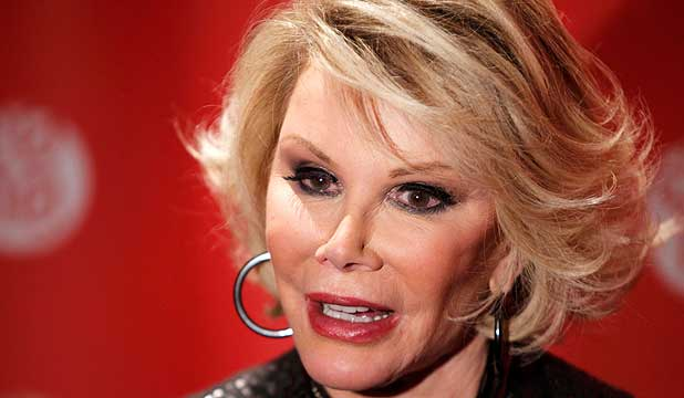 GRAVE FEARS: Doctors are concerned that Joan Rivers could be left either a vegetable or in a wheelchair.
