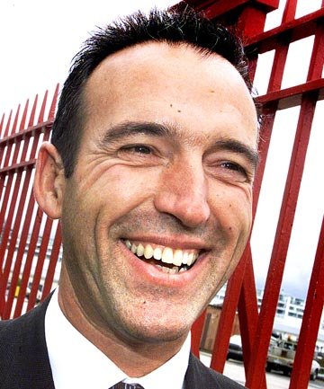 NEW HOME: Graeme Hart's latest ship has just hit the water.