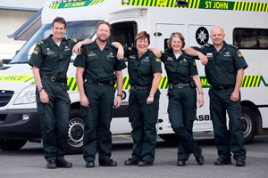 St John Ambulance staff