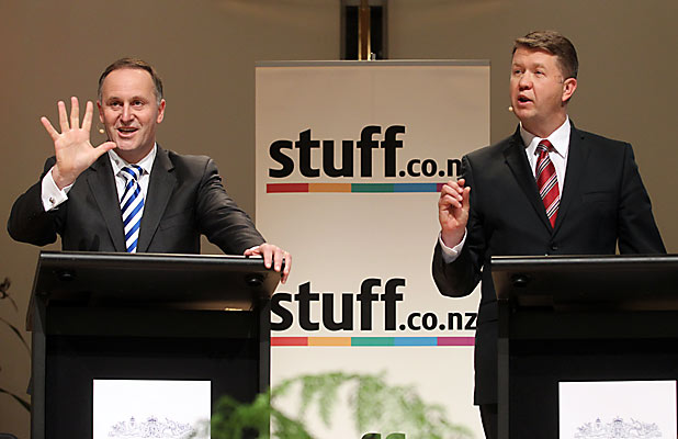 John Key and David Cunliffe