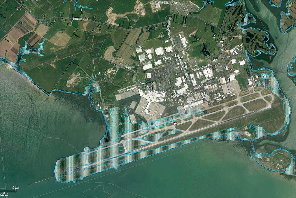 2M SEA LEVEL RISE: Auckland Airport