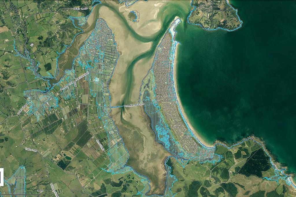 2M SEA LEVEL RISE: Pt Wells and Omaha Beach