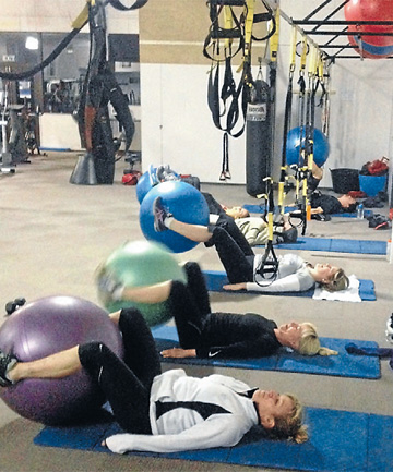PAIN FOR GAIN: Reporter Jo Mckenzie-McLean feels the burn during a TribeCORE class at NRG Health and Fitness in Cromwell.