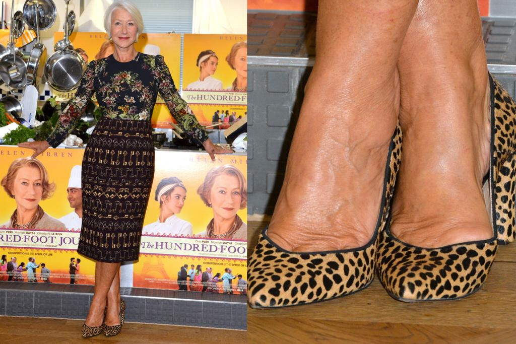 THE GOOD: Being the boss she is, Helen Mirren can pull off three clashing Dolce & Gabbana prints no probs'. Looking sharp.