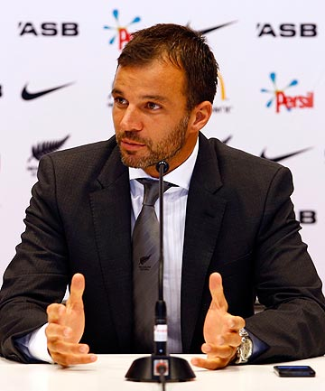 AMBITIOUS: Anthony Hudson is unveiled as the All Whites new coach and says he wants to bring a more attacking mindset to the national team.