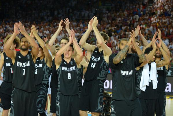 Tall Blacks huddle