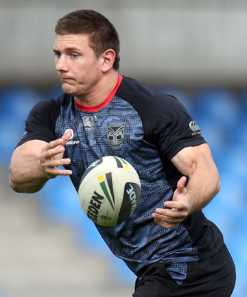 FITTING REWARD: Warriors forward Jacob Lillyman has been named in the Australian train-on squad for the Four Nations.