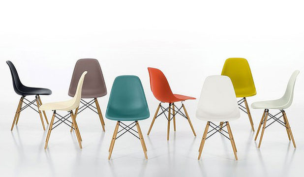 HAVE A SEAT: Moulded Plastic DSW Chairs By Charles And Ray Eames, 1948.