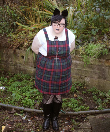 FIERCE FASHION: Sian Morgan is part of a rarer subspecies of fat-shion blogging known as Fat Punk.