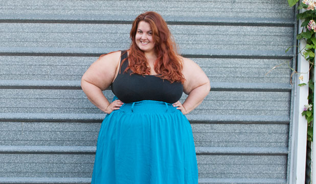 EXPRESS YOURSELF: Meagan Kerr came to the realisation that trying to hide her fat wasn't only unfair, but unrealistic.