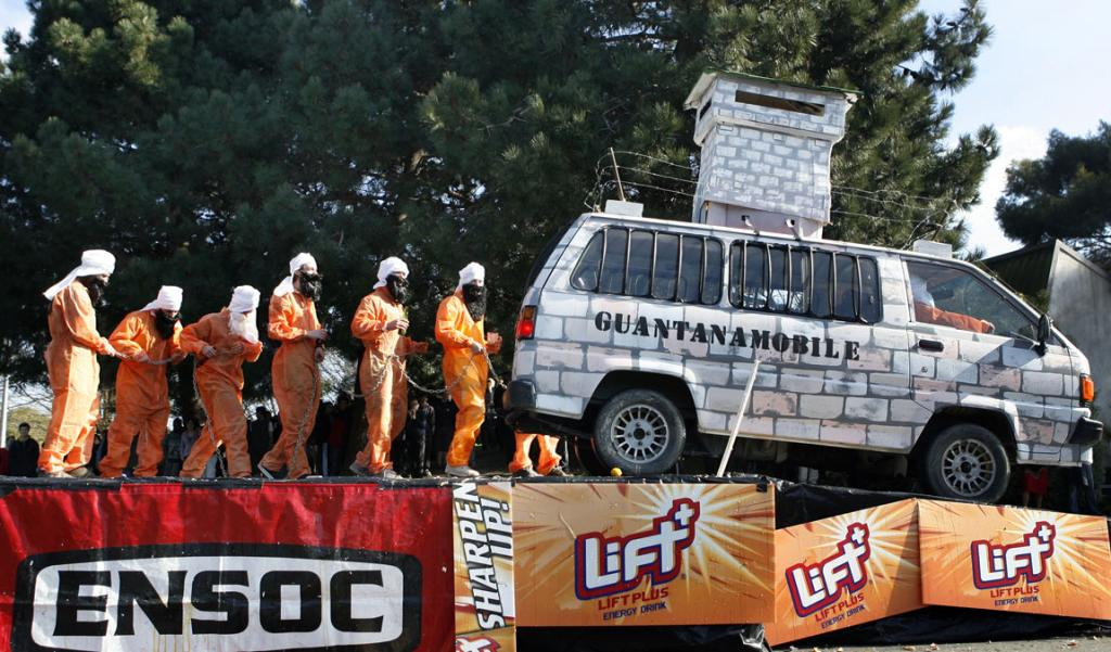 The Guantanamobile team lines up at the 2007 Undie 500.