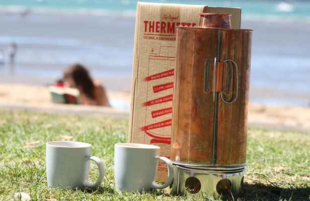 """THERMETTE: """"The stronger the wind, the better it boils"""" inventor John Hart said of his Thermette, from 1929."""