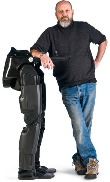 BIONIC LEGS: Robert Irving, and Richard Little, pictured, sketched out their first idea for bionic legs on the back of a beer mat about 2003. Irving was initially inspired by his mother, who had multiple sclerosis.