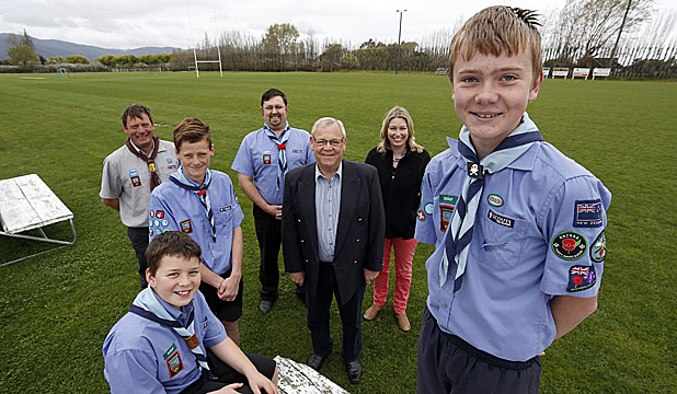 PERFECT FIT: Marlborough will host the next national scout jamboree. From left to right (back): Dean Marshall, Mike Godsall, Alistair Sowman and Susie Witehira; (front) Aaron Douglas, Josh Wilson and Ashley Ireland.