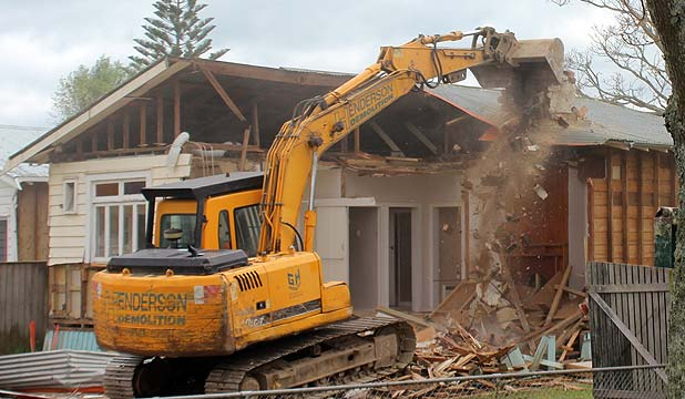 COMING DOWN: A Calgary St property is cleared to make way for a car park.