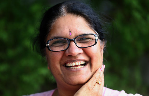 DIVINE HELP: Financial educator and researcher Dr Pushpa Wood has sought the blessings of the Hindu goddess of wealth, Lakshmi.