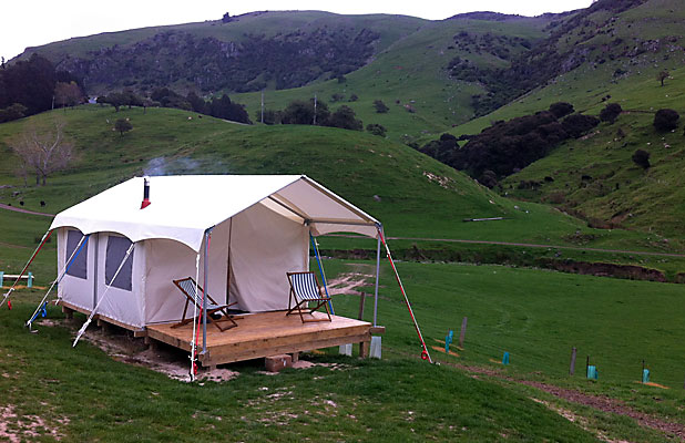 HIGH-END The latest Canopy C&ing gl&site on a 1000-hectare Banks Peninsula & Banks Peninsula branches into u0027glampingu0027 | Stuff.co.nz