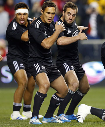 Change Of Plans New Zealand Maori Players Perform The Haka Ahead Their Clash Against