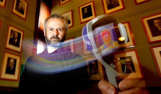 THAT'S THE SPIRIT: James Gilberd researches paranormal activity at the Museum of Wellington City & Sea.