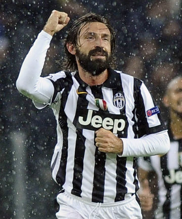 0a63c4ed7 MILESTONE MAN  Juventus midfielder Andrea Pirlo scored from a trademark  free-kick on his