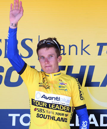 FAST FINISH: Mitchell Lovelock-Fay became the first Aussie to win the Tour of Southland in 50 years.