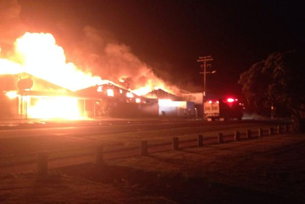 Robertson Plastics in Dargaville was gutted by fire.