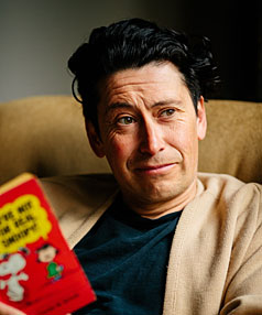 QUIET TIME: Comedian Derek Flores is an introvert at home.