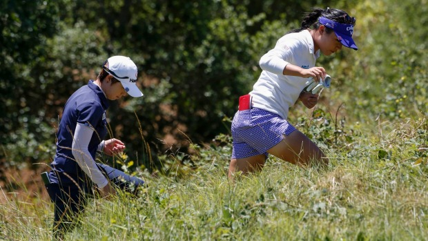 Park takes 2nd-round lead at US Women's Open