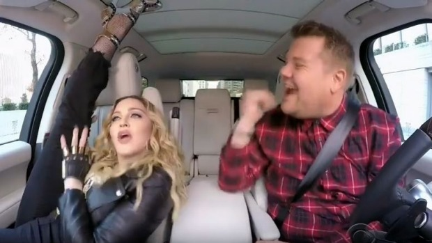 Madonna in Full Carpool Karaoke