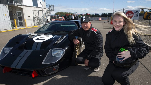 Manawatu Communities News Director Lisa Houston Went For A Spin In A Ford Gt At Manfeild Circuit Chris Amon