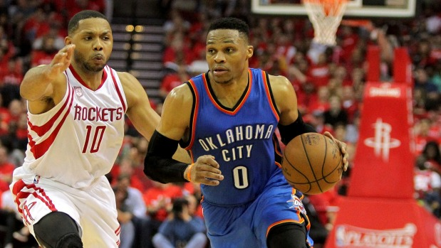 Rockets dig 0-2 hole for Russell Westbrook, Thunder