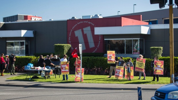 Fastfood workers strike for higher pay