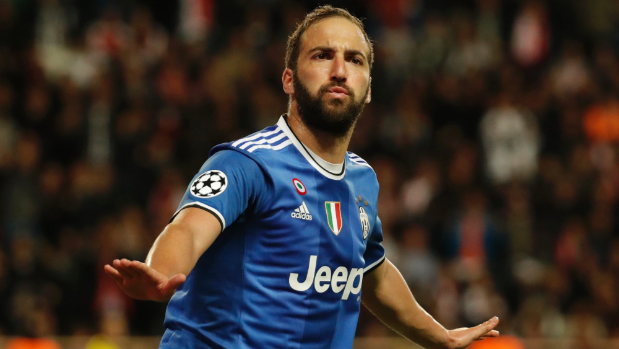 Gonzalo Higuain at the double as Juventus march past Monaco