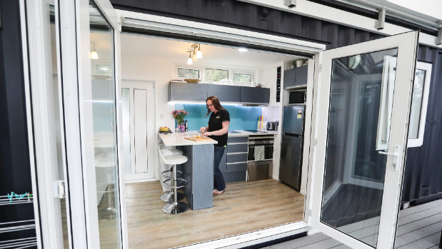 Brenda Kelly From IQ Container Homes Has Built The First 8 Homestar Home On A Steep Site In West Auckland